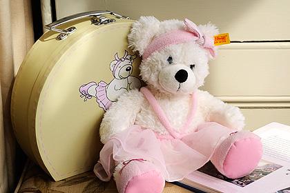 Steiff Ballerina Lotte Bear in a Suitcase