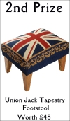Union Jack Tapestry Footstool